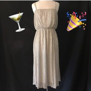 Zara Cocktail Dress • Silver • Size M • 🍸